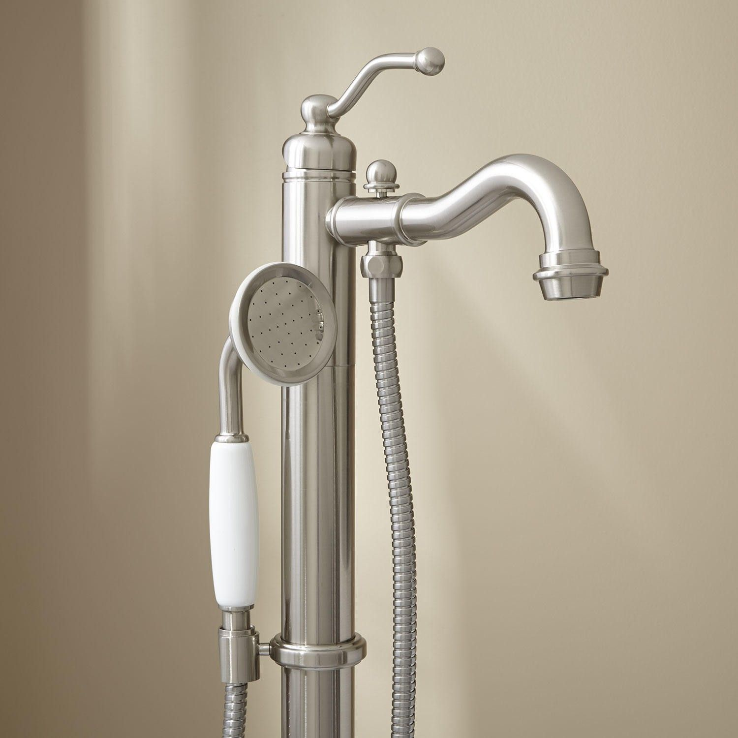 Leta Freestanding Tub Faucet with Hand Shower | Freestanding tub ...