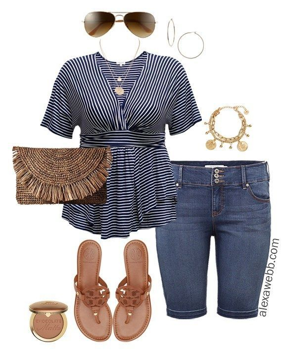 Plus Size Cruise Collection - Casual Outfits #summercruiseoutfits