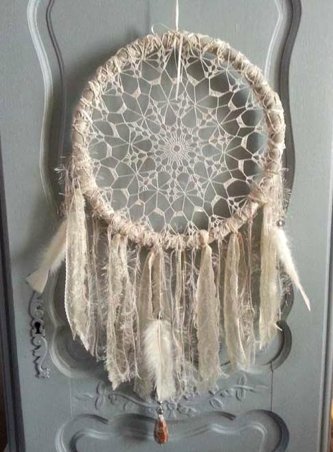 mon attrape reves 1 re version diy astuces et tutos facile dreamcatcher attrape r ve. Black Bedroom Furniture Sets. Home Design Ideas