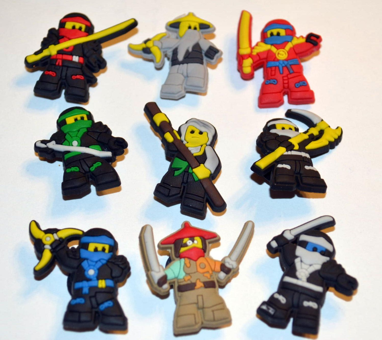 Croc Shoe Decorations Super Hero Lego Inspired Ninjago Movie 9pc Shoe Charms Cake