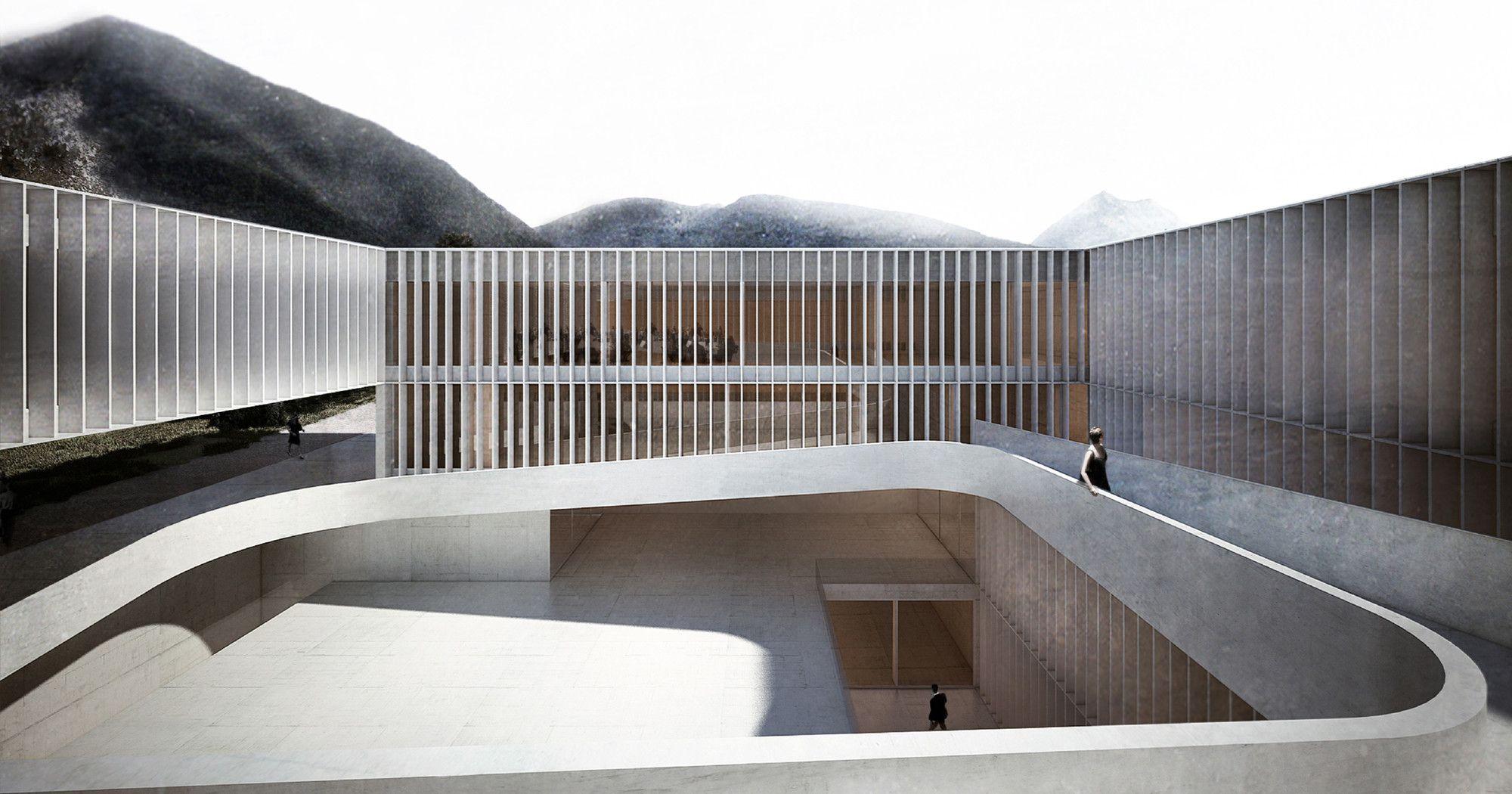 Galeria - Aires Mateus + GSMM Architetti recebem menção honrosa em concurso para uma escola de música na Itália - 7