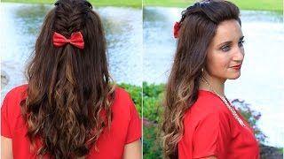 Cute Girls Hairstyles - YouTube | Hairstyle Tutorials | Pinterest ...