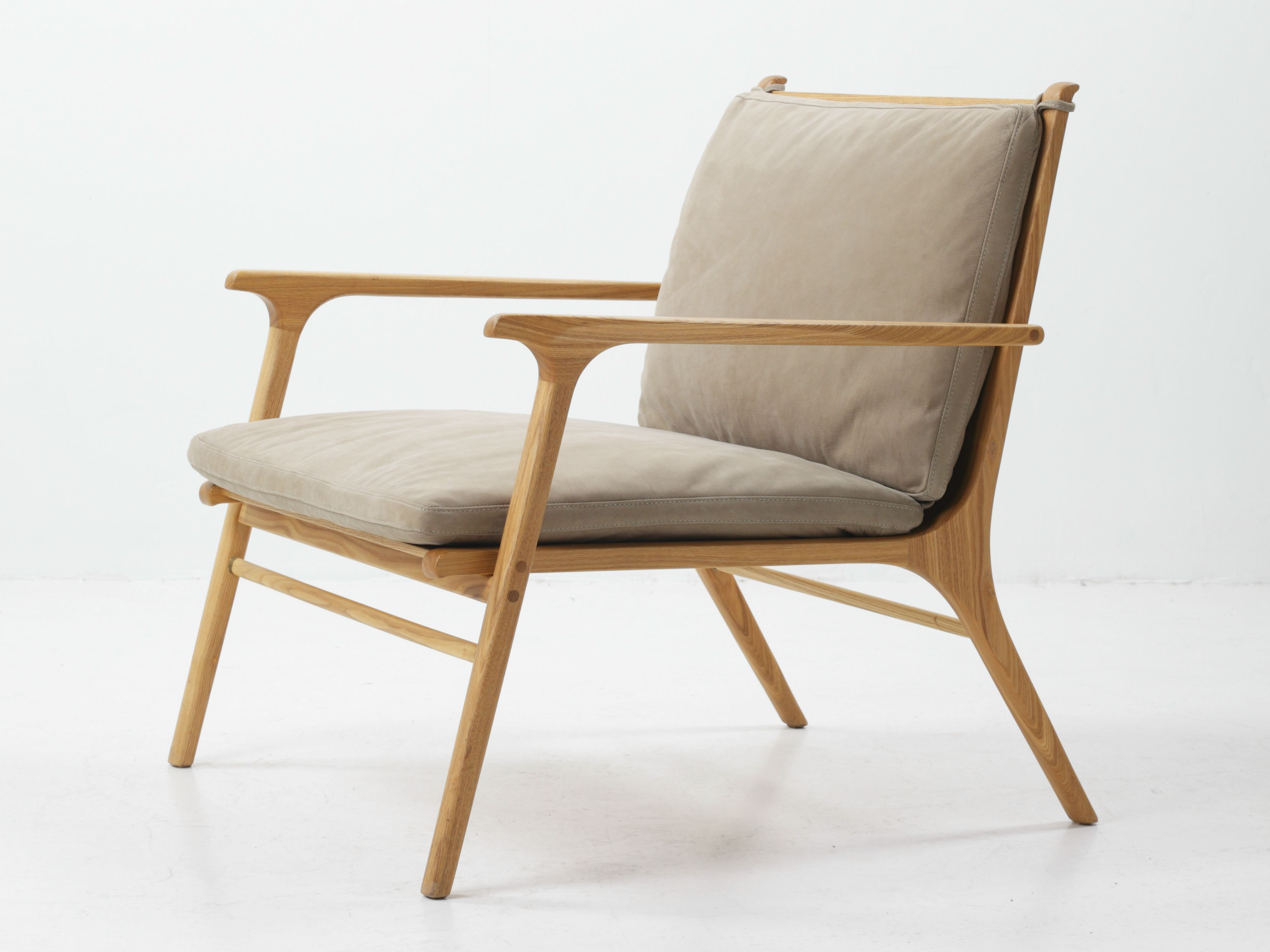 Ash Armchair With Armrests Ren Collection By Stellar Works