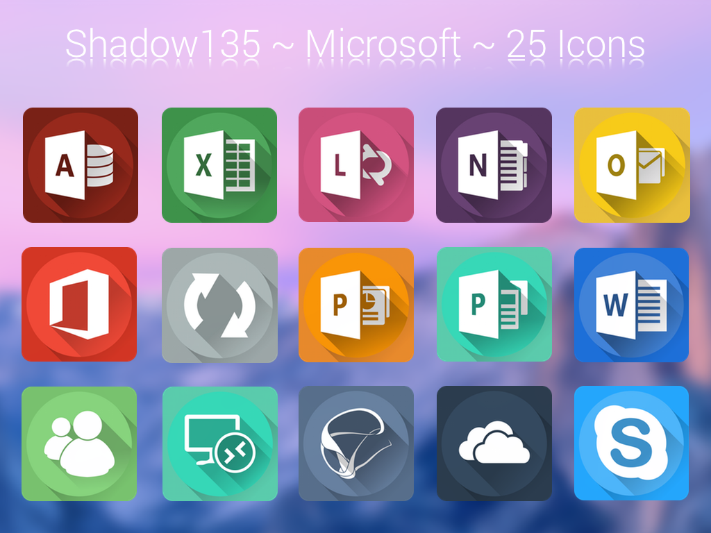 This package includes 25 Microsoft icons in .png formats