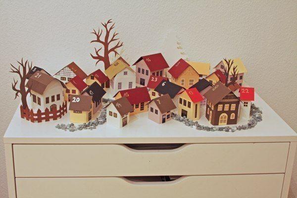 Adventskalender Dorf village advent calendar christmas Weihnachten