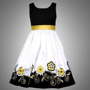 b5ac97d7d893 Rare Editions TWEEN GIRLS 7-16 BLACK YELLOW WHITE... Best Dress For