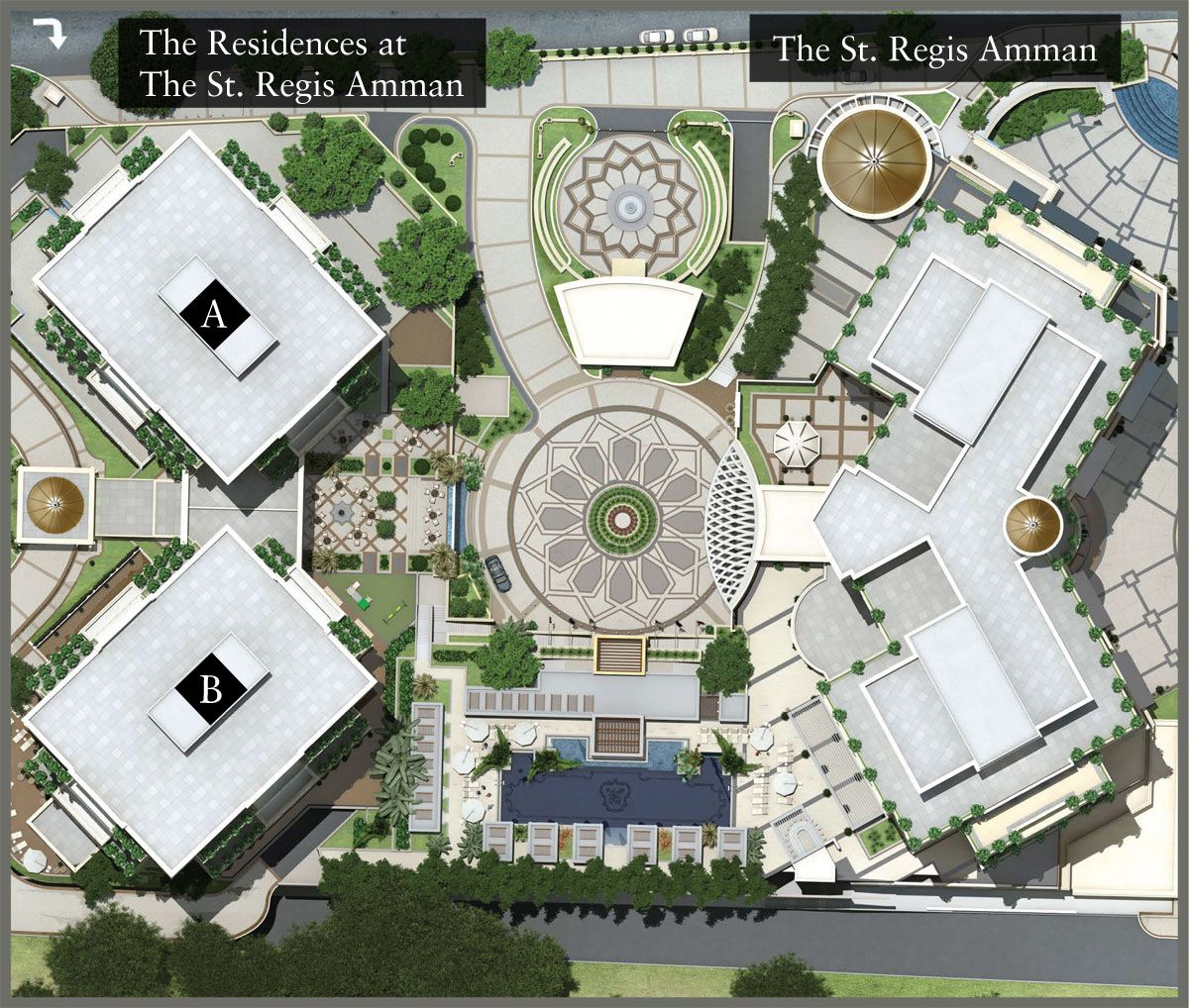 Master plan st regis hotels and resorts layout plan for Apartment master plans