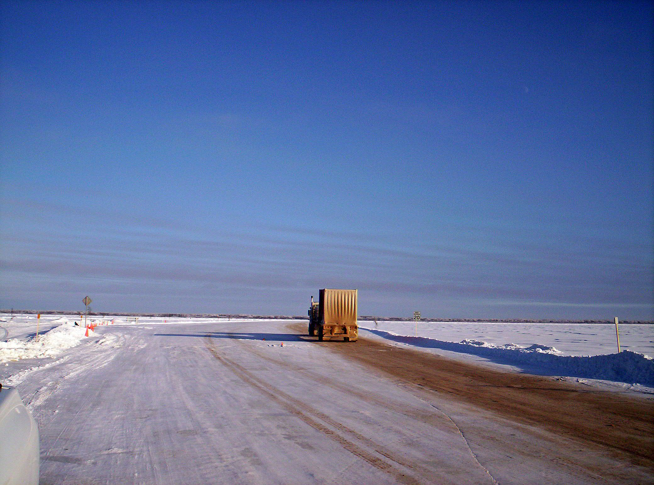 Mackenzie River Ice Road