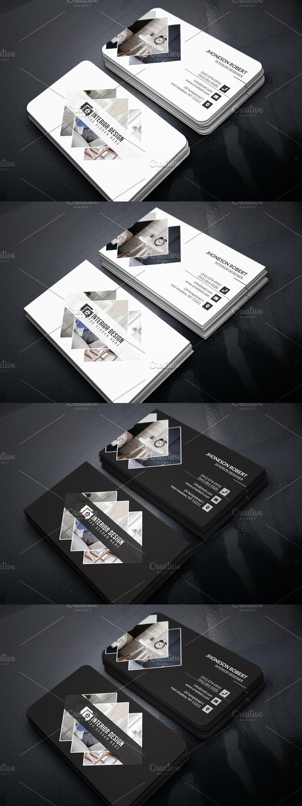 Interior Designer Business Card Interior Designer Business Card Business Card Design Minimalist Business Card Design
