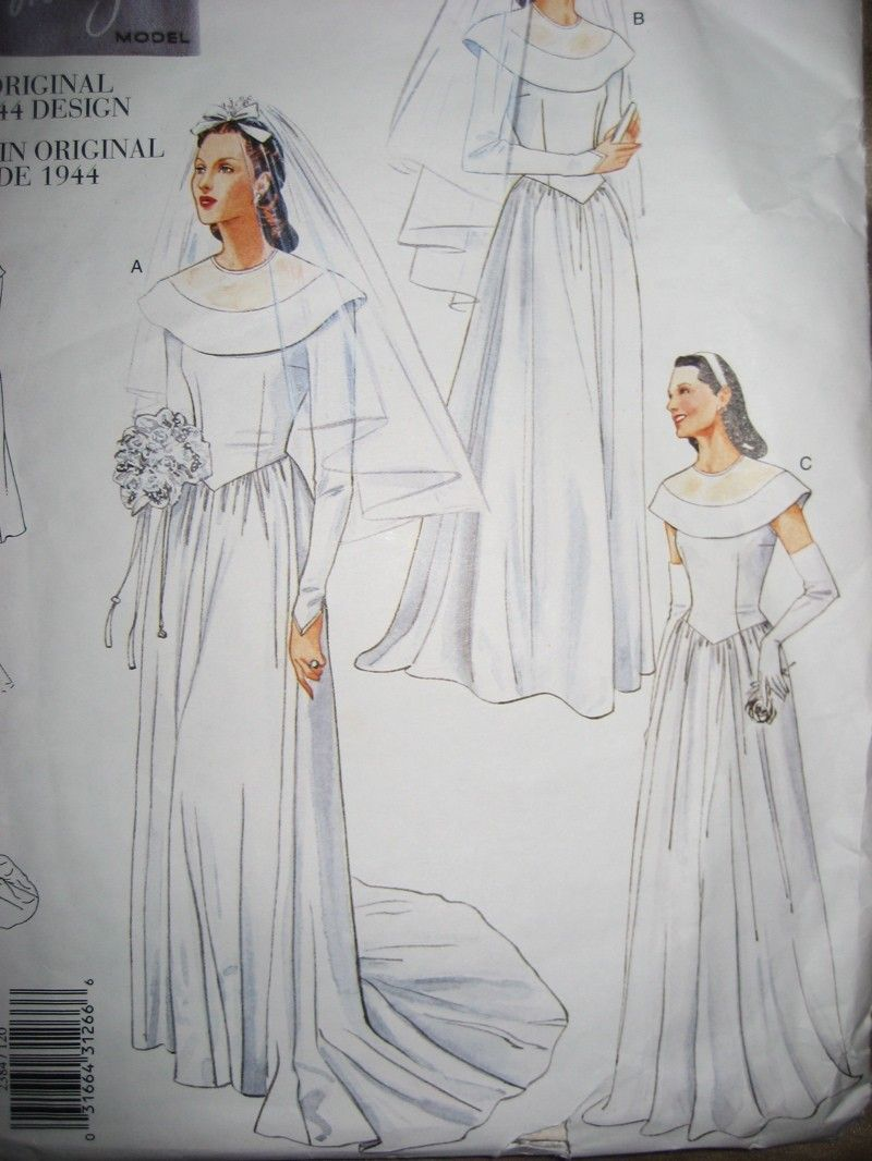 1940s Vogue Wedding Dresses