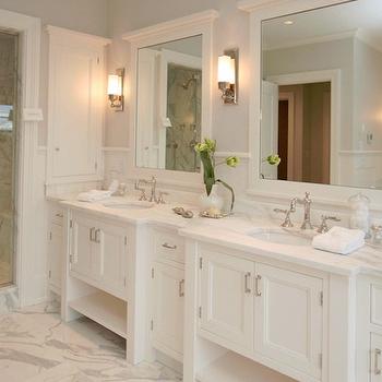 gray bathroom - contemporary - bathroom - blue water home