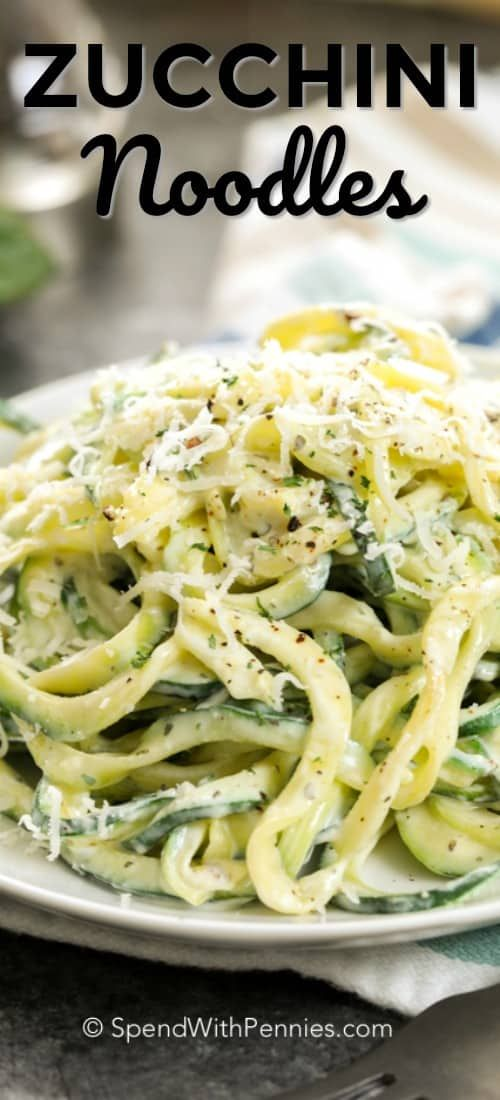 These creamy dreamy zucchini noodles are the perfect side dish We also love making them for lunch