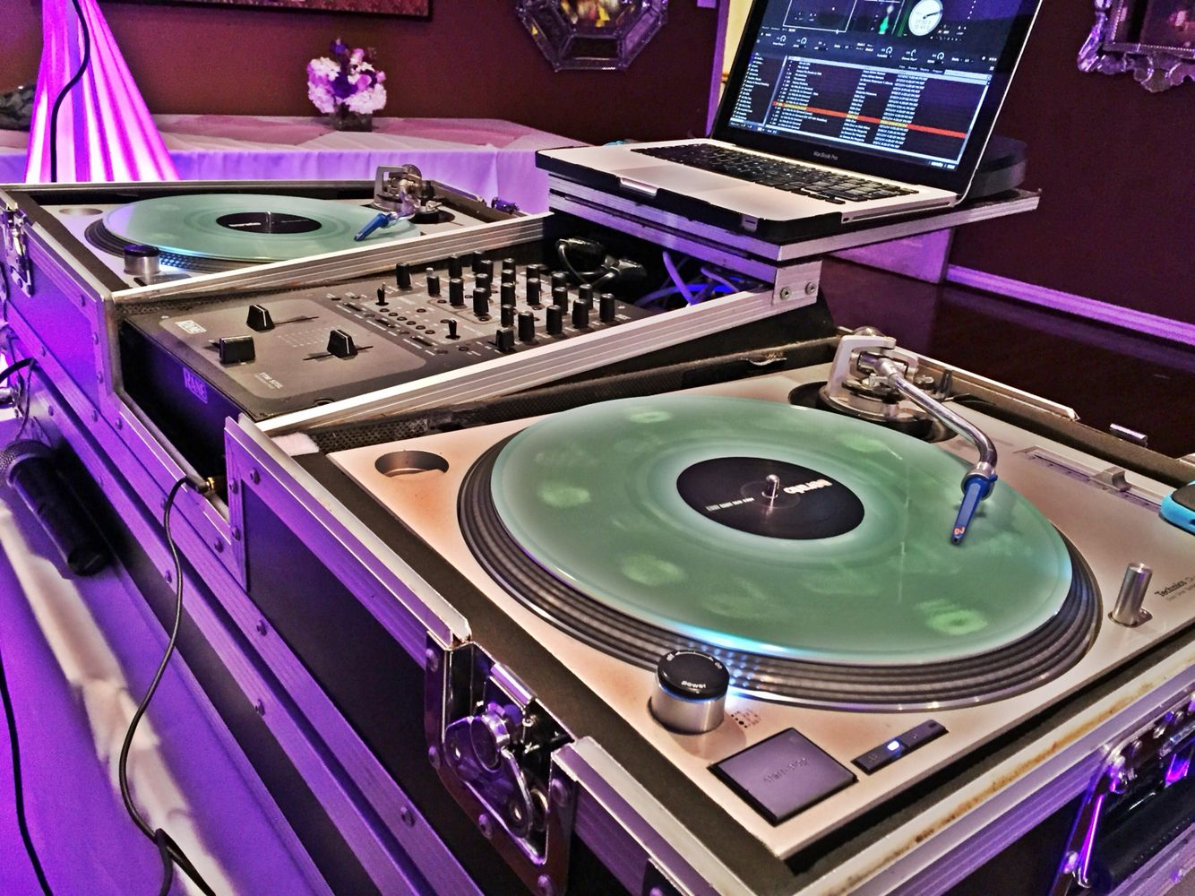 Location Steven S Steak House Commerce Ca Purple Up Lights With Glow In The Dark Serato Control Vinyl Www Duoonline Net Glow In The Dark Steakhouse Lights