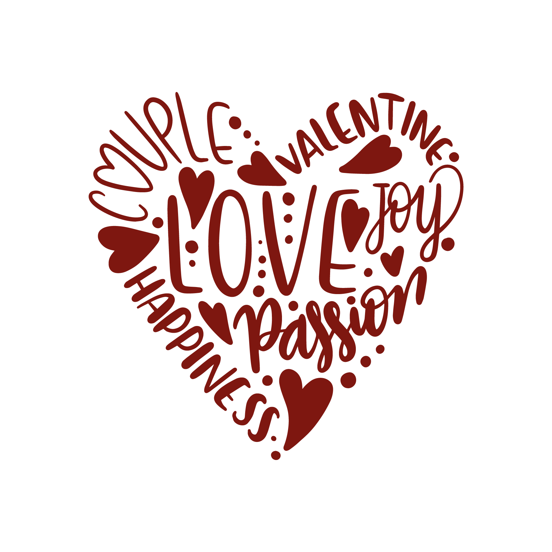 Download Heart_words_COMMERCIAL_USE_OK | Valentines svg, Silhouette ...