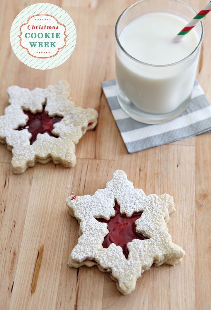 Christmas Cookie Week 2014: Raspberry Linzer Snowflake Cookies // The Speckled Palate #TriplePFeature