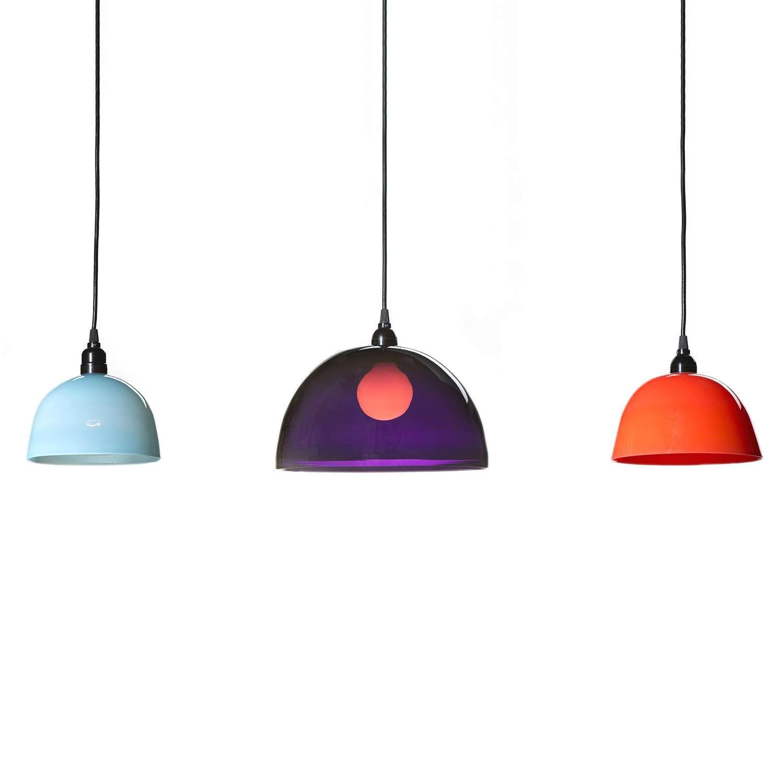 Simple pendant light pendant lighting steel canopy and blown glass simple pendant light aloadofball Images
