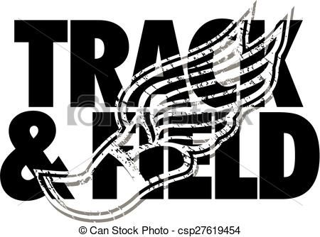 Vector - track & field design - stock illustration, royalty free ...