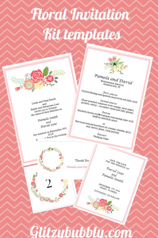 Pin by Glitzy Bubbly on Printable downloadable kits | Pinterest | Wedding invitation kits, Wedding Invitations and Wedding invitation templates