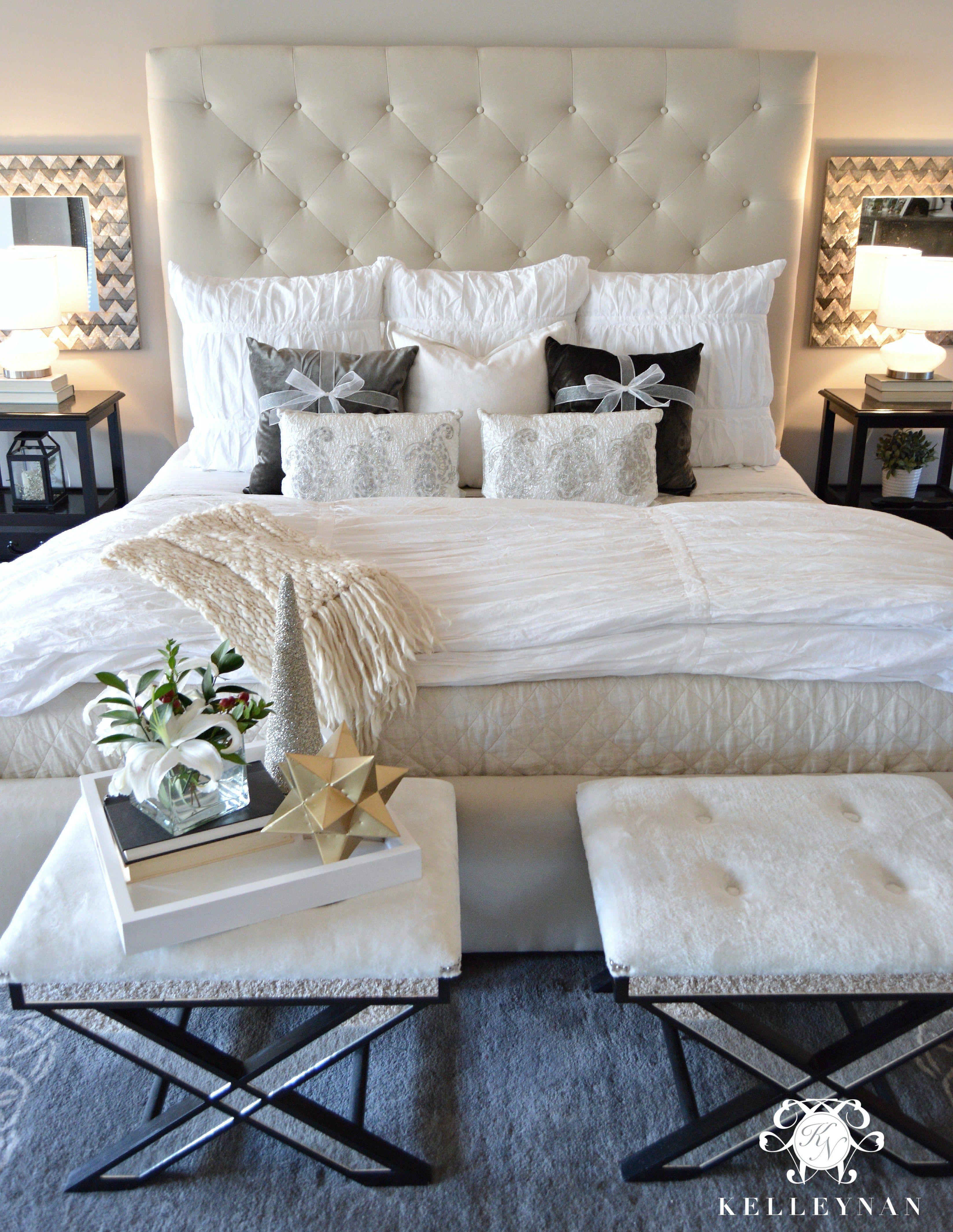 pottery barn lorraine bed on 2015 christmas home tour kelley nan home bedroom home decor bedroom bedroom inspirations 2015 christmas home tour kelley nan