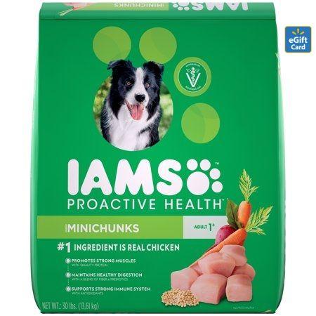 Iams Proactive Health Minichunks Dry Dog Food Chicken 30 Lb With