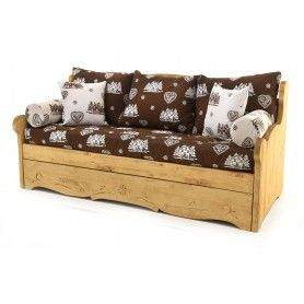 Canape Convertible Gigogne 3 Places Pin Massif Courchevel Dahu Canape Lit Gigogne Mobilier De Salon Canape