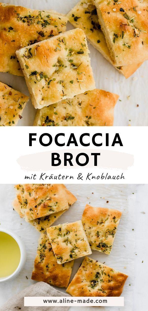 Focaccia mit Kräutern - Einfaches Rezept | Aline Made