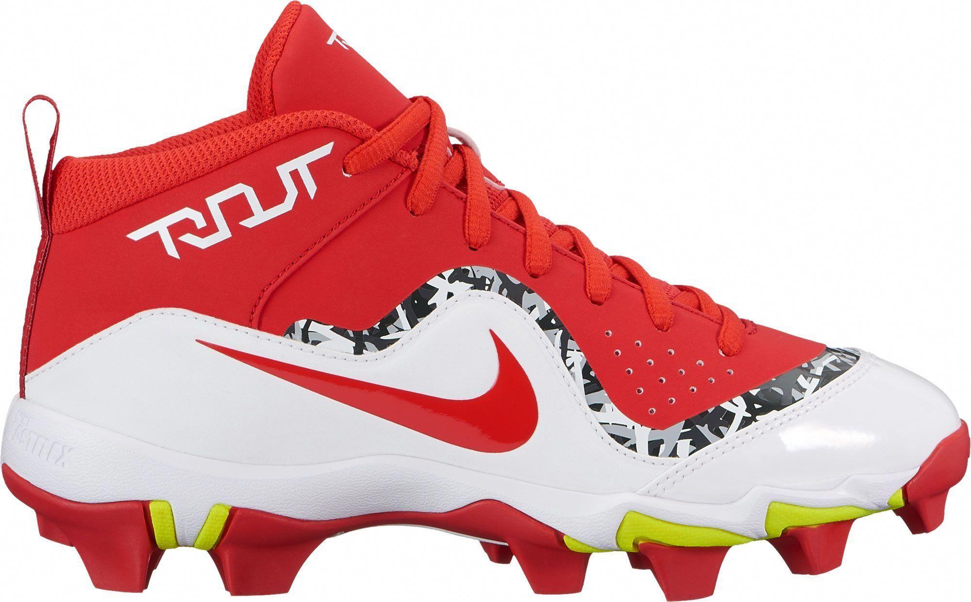 new product ed150 2b5bc Nike Kids  Force Trout 4 Keystone Baseball Cleats, Size  11K, Red   baseballcleats