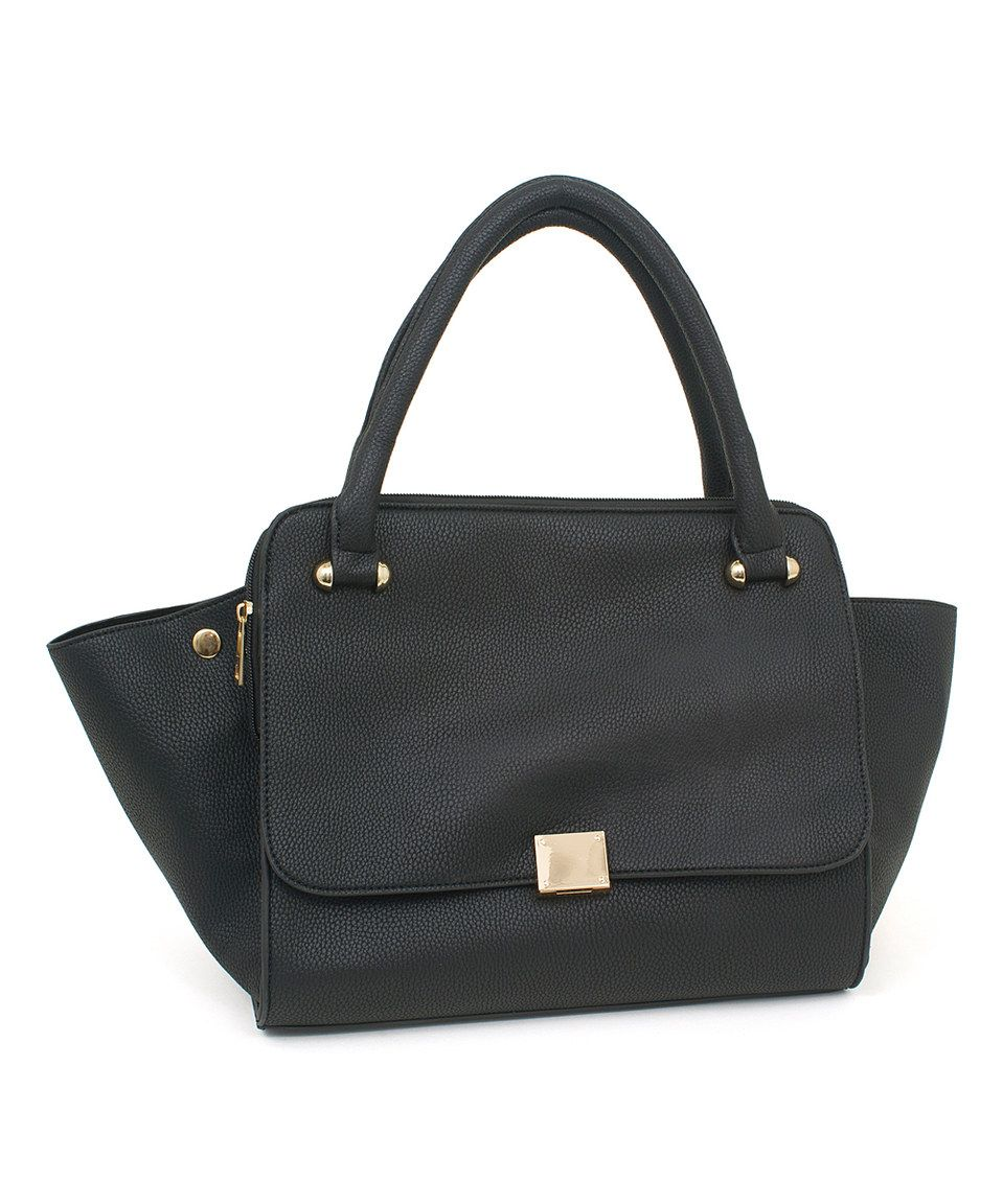 This Black Embossed Satchel by Rebecca & Rifka is perfect! #zulilyfinds