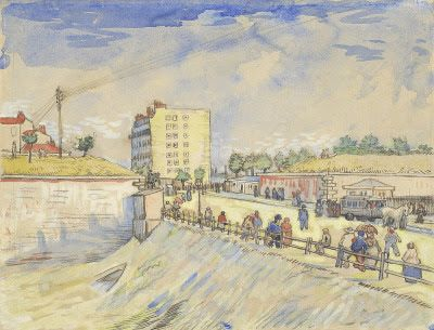 Les Remparts De Paris Vincent Van Gogh 1888 Aquarelle With