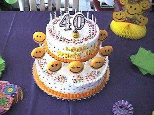 Birthday Cake 40 Years Old Yummy Cake Pinterest 40