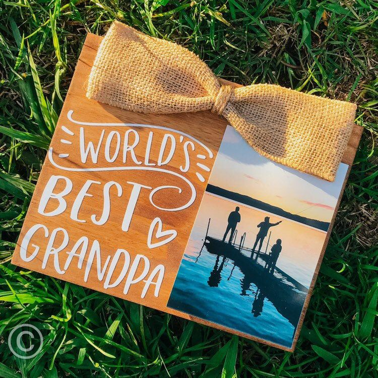 Worlds Best Grandpa/ PaPa/ Gramps/ Grandad/ Grandpa Gift/ Stained & Rustic Picture Frame #grandpagifts