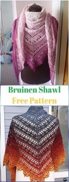 Crochet Bruinen Shawl Free Pattern - Crochet Women Shawl Sweater ...