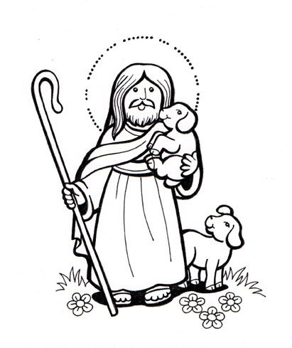 Jesus 20buen 20pastor 201 1 Jpg 411 489 Bible Coloring Bible Lessons For Kids Faith Formation