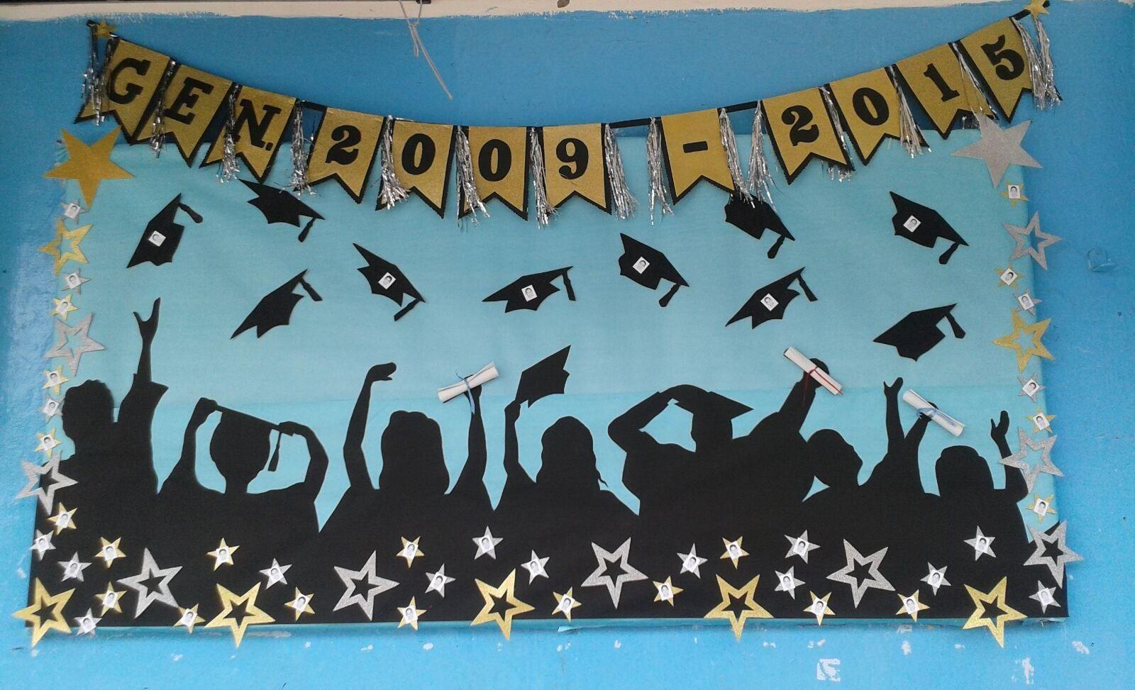 Periodico mural graduaci n fin de cursos pinterest for El mural pelicula online