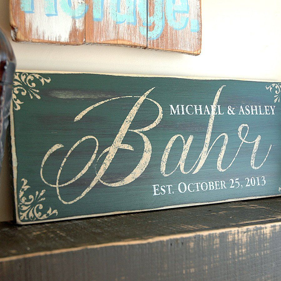 Handmade Family Established Sign, Last Name Sign, Est. Sign, Rustic Wood Sign Finish