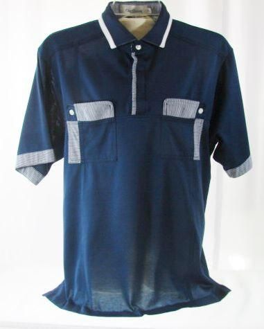 d1a9bf43 80s Oleg Cassini Sheer Navy Blue Polo Shirt Large | Products | Navy ...