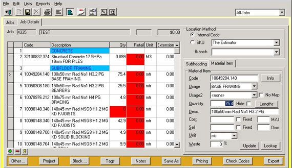 Now a days quantity surveying software plays an important for Building material list calculator