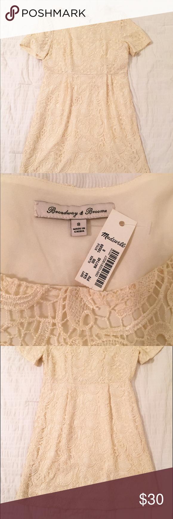 Madewell Lace Dress NWT Madewell Ivory lace dress NWT. Size 6. Madewell Dresses