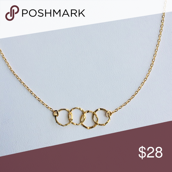 Entwined Circles Gold Necklace Gold Necklace Necklace 14k Gold Filled Chain