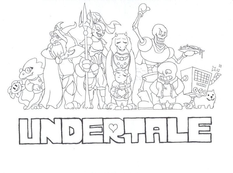 Free Undertale Coloring Pages Undertale Is A Game Made By Toby