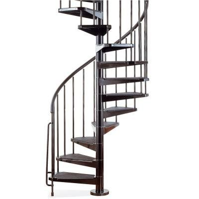 Civik 5 Ft 3 In Black Spiral Staircase Kit K03020 At The Home