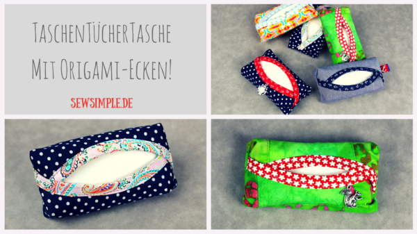 TaschenTücherTasche mit Origami-Ecken nähen   15 Hüllen Organizer ...
