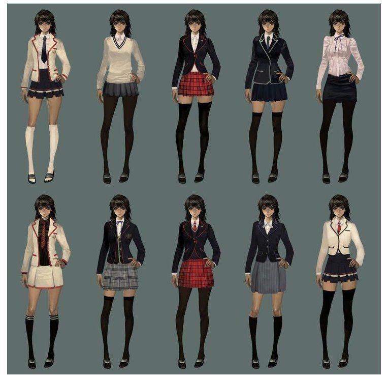 School Uniforms For Girls Anime School Uniforms School Uniform Outfits School Uniform School Fashion