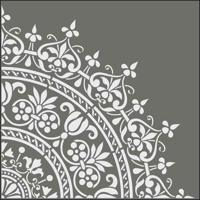 Sjablonen Voor Op De Muur.Sjablonen Plasma Art Moroccan Stencil Mandala Stencils En