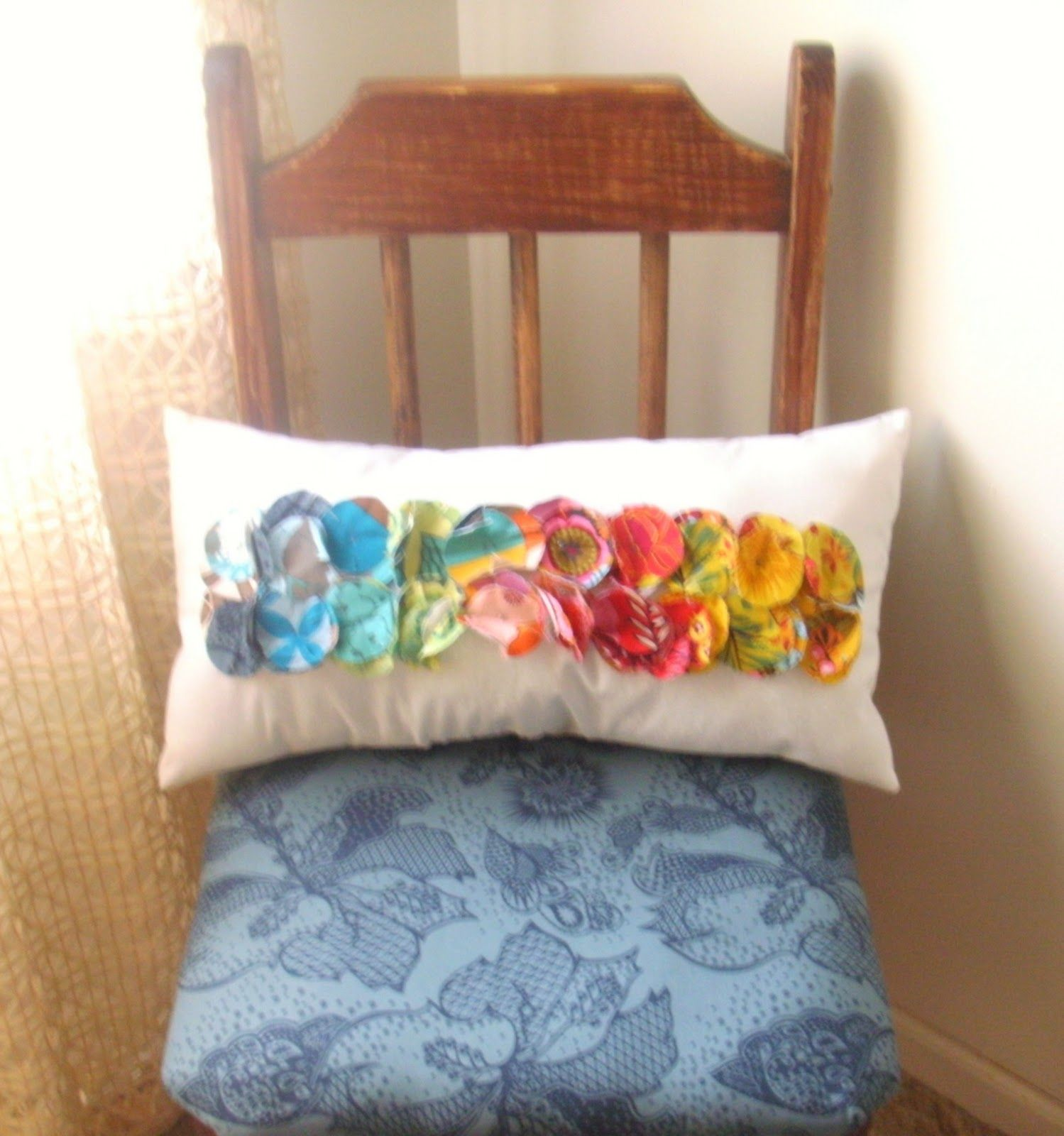 Sew homegrown diy color path pillow sewingfabricyarn projects