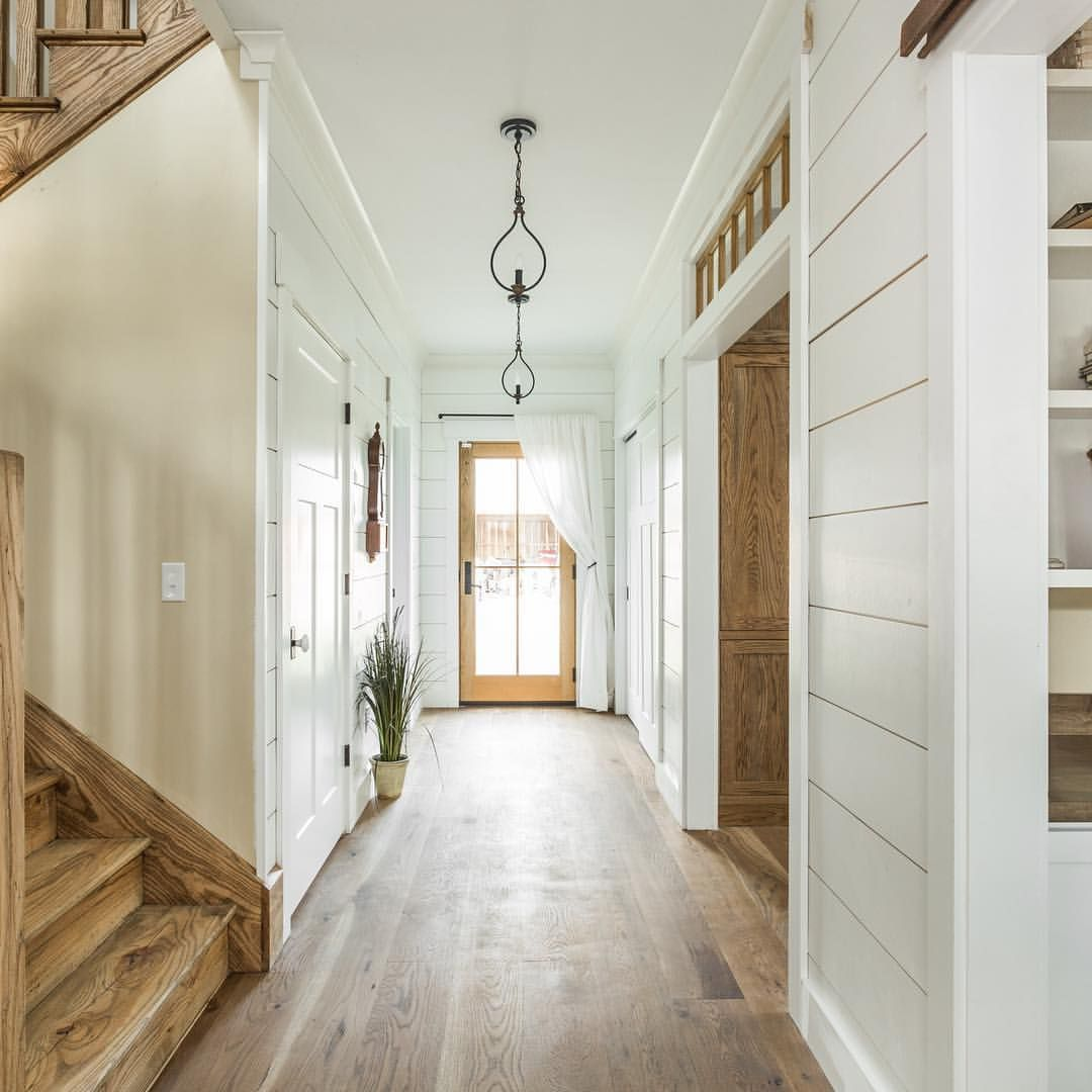 Entry hallway lighting  This is a modernfarmhouse even joannagaines would be proud of