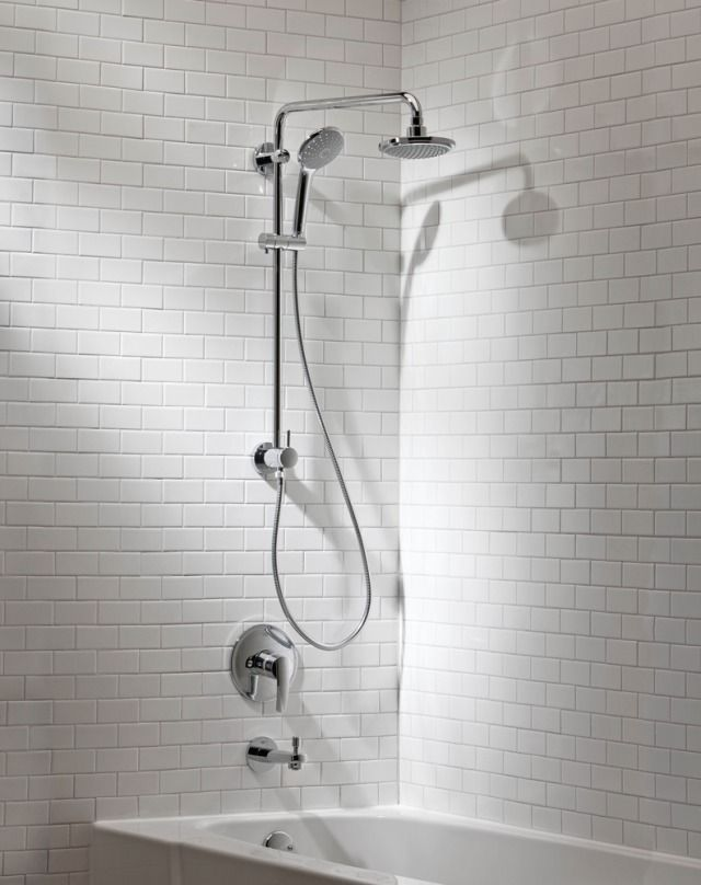 Retro Fit Shower System From Grohe America For Residential Pros Shower Systems Shower Grohe