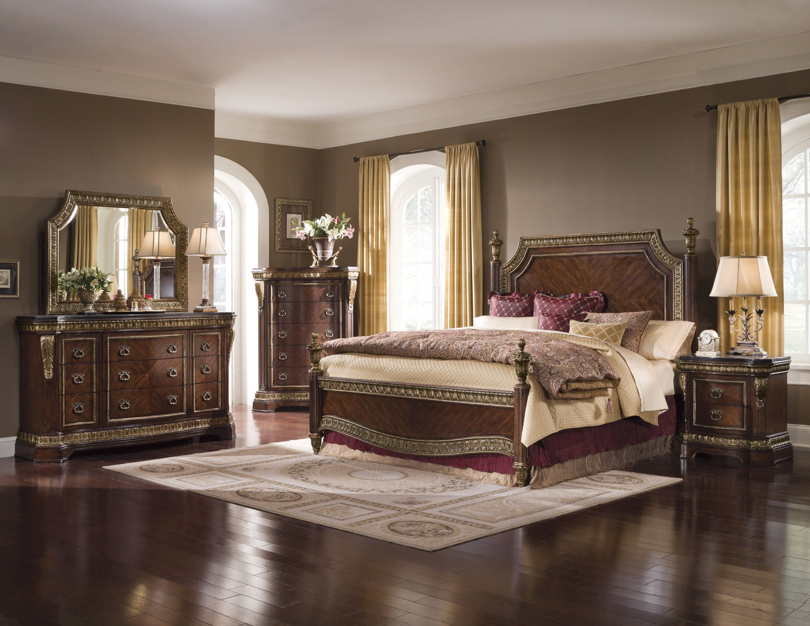 Luxury Bedrooms White And Gold Louis Xvi Style Furniture White Furniture Inspiration White Bedroom Decor Luxurious Bedrooms