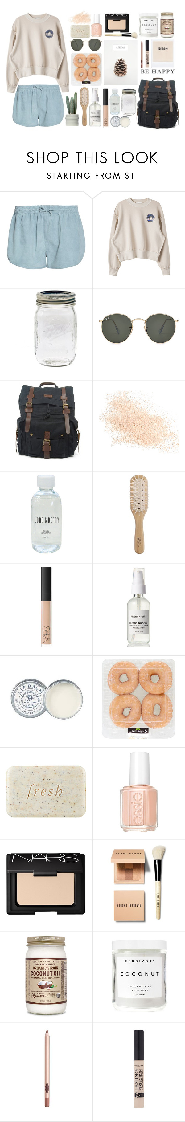 """""""-don't worry, be happy-"""" by elishaxoxo16 ❤ liked on Polyvore featuring Ganni, Ray-Ban, Eve Lom, Lord & Berry, Philip Kingsley, NARS Cosmetics, Jack Wills, Fresh, Essie and Bobbi Brown Cosmetics"""