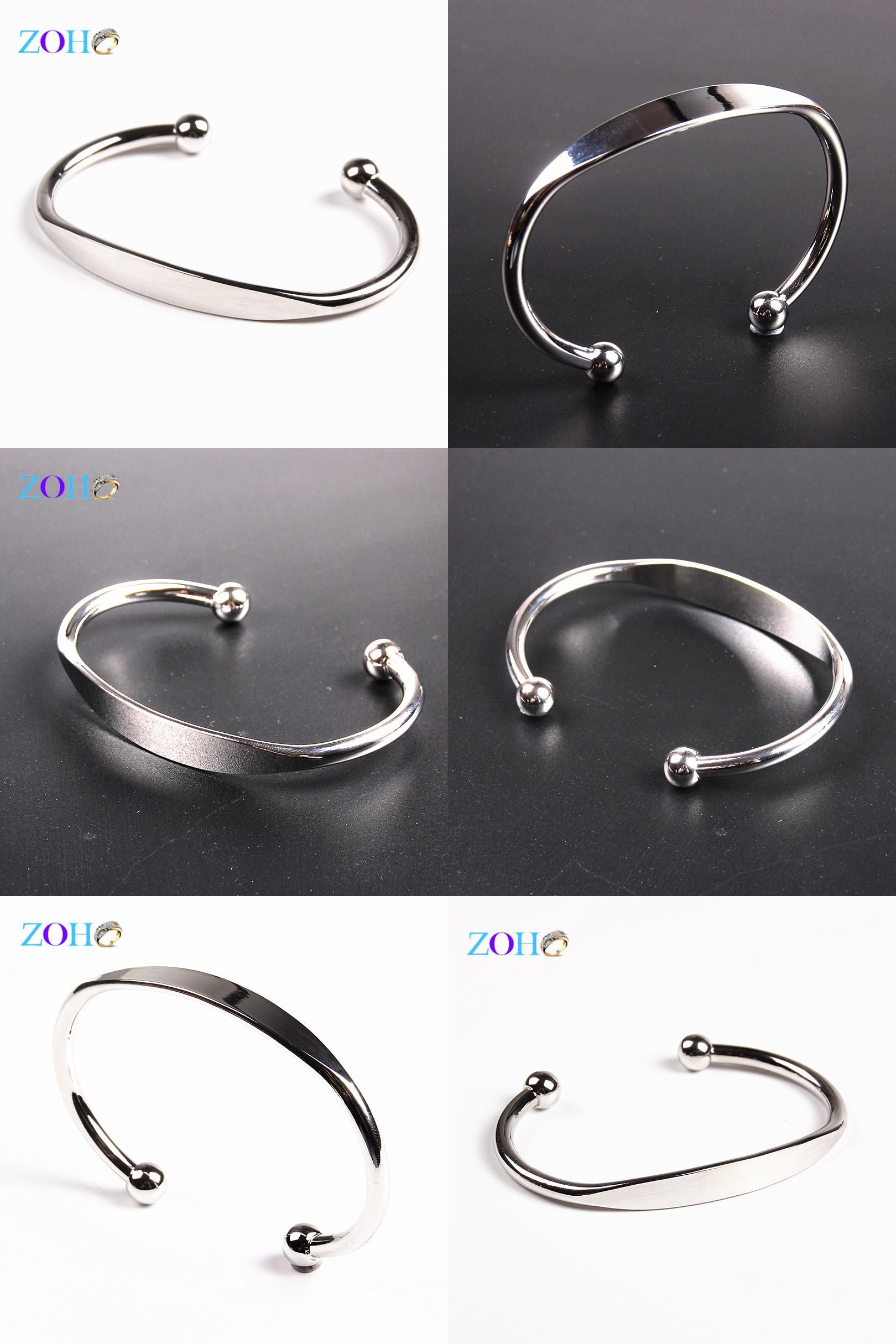 [Visit to Buy] Silver cuff bracelet bangles punk solid new fashion copper bracelets for women #Advertisement